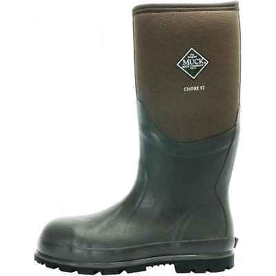 Muck CSCT-STL Boots Chore Cool Steel-Toed Work Boot 7 Brown Medium