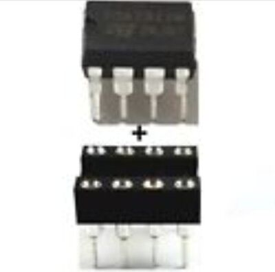 4 x TDA2822M DUAL LOW VOLTAGE POWER AMPLIFIER IC & dip Socket  USA SELLER