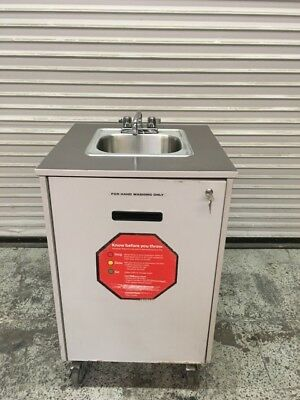 Portable Hand Wash Sink Mobile Station Cart w/ New Water Heater Mill Works #7765