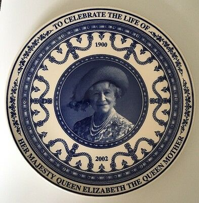 Wedgwood Daily Mail Commemorative Plate To Celebrate The Life Of Queen Mother