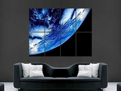 Space Poster From Earth Image  Giant  Print Art
