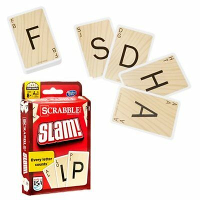 """Scrabble Slam! Card Game By Hasbro Ages 8+  2-4 Players  """"NEW""""  """"FREE SHIPPING"""""""