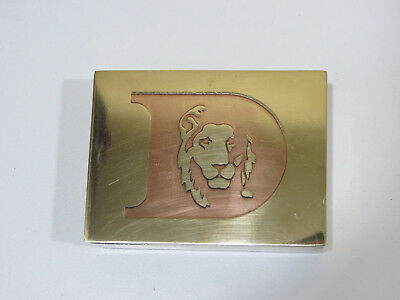 Antique Vintage Lion Face Brass Box & Paperweight