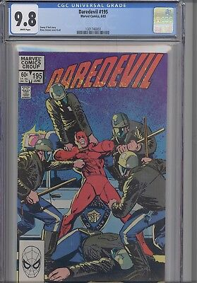 Daredevil #195 CGC 9.8 Comic in 1983: Klaus Janson Police Cover  NEW CGC Frame