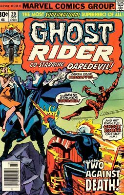 Ghost Rider (1st Series) #20 1976 VG+ 4.5 Stock Image Low Grade