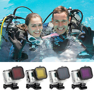 Underwater Scuba Diving Lens Filter Protective For GoPro Hero 4 3+ Camera UO