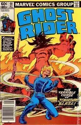 Ghost Rider (1st Series) Mark Jewelers #68MJ 1982 GD/VG 3.0 Stock Image