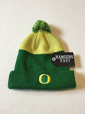 Nike Oregon Ducks Low Crown Green Yellow Reflective Knit Beanie Hat Cap USED a5a88126fc55