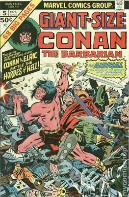 Giant Size Conan #5 1975 FN- 5.5 Stock Image Low Grade