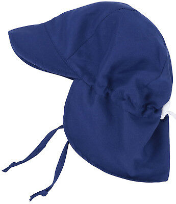 Baby Girls Boys Hat UPF 50+ UV Ray Sun Protection Neck Flap & Drawstring Cap