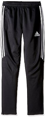 Adidas Youth Soccer Tiro 17 Slim Fit Black/White Pants, Small
