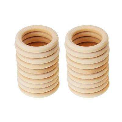 20pcs 45mm Unfinished Natural Wood Teething Rings Circles for DIY Pendant