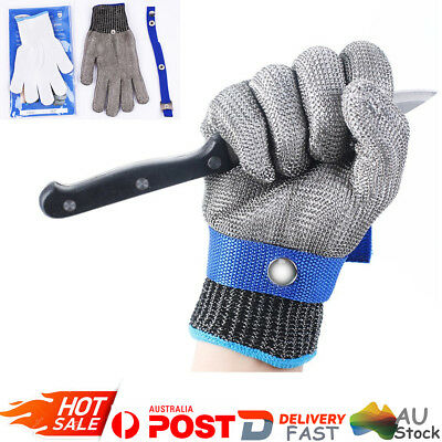 New Safety Stainless Steel Metal Mesh Butcher Gloves Cut Proof Protect Glove AU