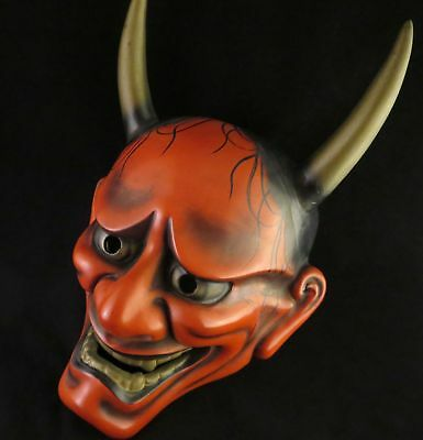Japanese mask Hannya Noh Kagura Kabuki  Demon Vintage Traditional oni Evil woman