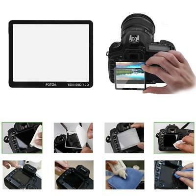 LCD Screen Film Protector Optical Glass Cover fr Canon 40D 50D 5D MARK II Camera