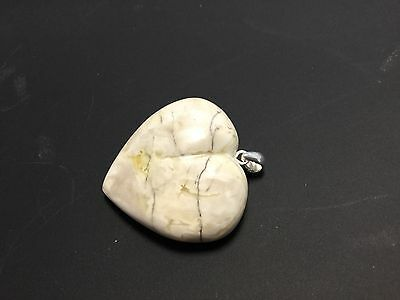 Natural White Baltic Amber Stone Pendant,10gr.