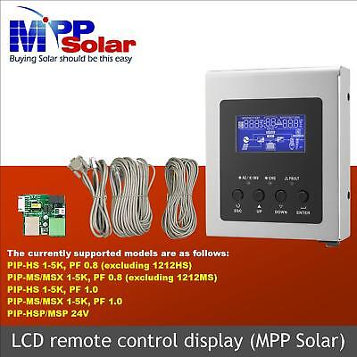 LCD remote control display for PIP HS, PIP MS  Solar inverter