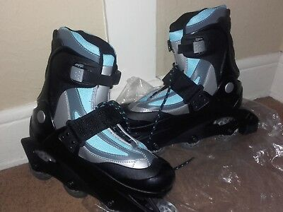 New British Knights blue and black roller blades (8)