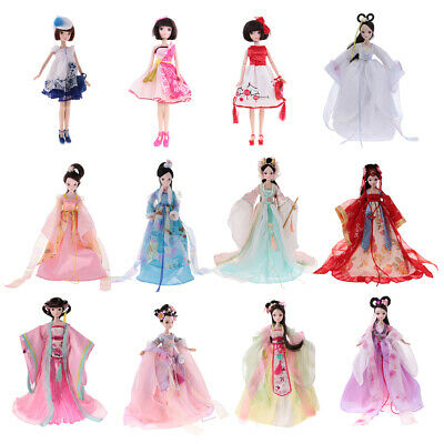 28cm Joints Vinyl Body Doll Fashion Costume Chinese Style Doll with Accessories