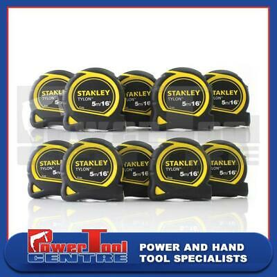 Stanley x10 STA130696N Tylon Pocket Tape Measures 5m / 16ft Loose Width 19mm