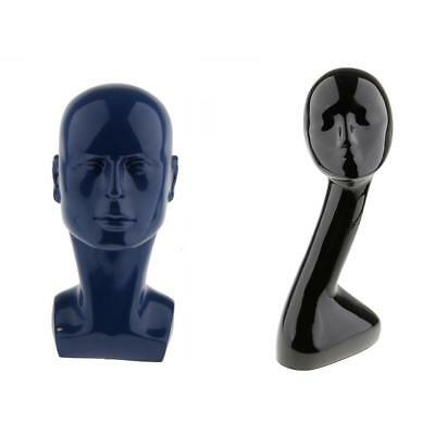 Glossy Female & Male Mannequin Head Glasses Caps Wigs Jewelry Display Stand