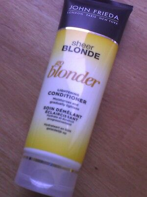 NEW! John Frieda Sheer Blonde Go Blonder Lightening Conditioner 250ml