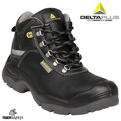 0e9d1a6e95e DELTA PLUS PANOPLY S3 Wide Fit Black Mens Steel Toe Safety Work ...