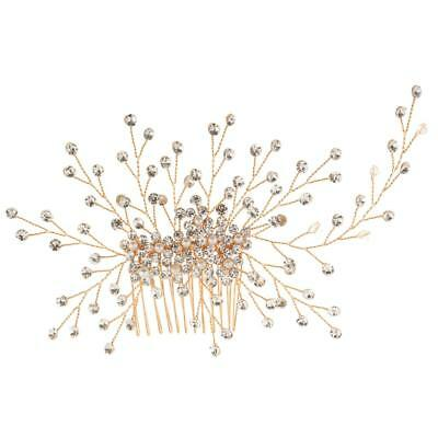 Bride Wedding Crystal Pearl Hair Comb Clip Girls Woman Headpiece Clip Fascinator
