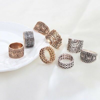 Hollow Ancient Finger Ring For Wedding/Party Ring Women Jewelry Ring Set