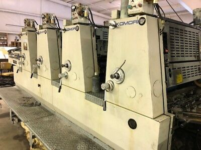 "1982 Komori L425BP   4 color  19"" x 26""  printing press"