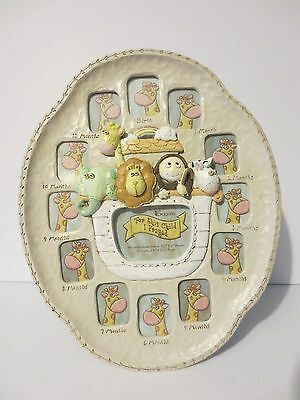 Fabulous NEW Noah's Ark Month-by-Month Up to First Year Baby's Picture Frame