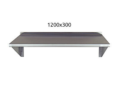Stainless Steel Shelf 1200x300mm Commercial Kitchen Workshops and Stores