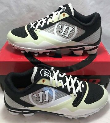 Warrior Gospel Mens Size 13 Lacrosse Lax Cleats Black White New