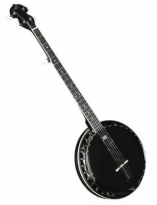 Banjo Morgan Monroe MB-75BK Black 30 Bracket Resonator 5-String Banjo