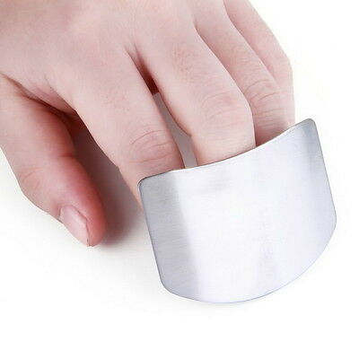 Stainless Steel Metal Finger Guard Protector Kitchen Knife Chop Cook Cut  E5J