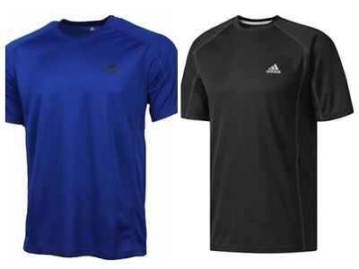 New Adidas Men's Climalite Short Sleeve T Shirt Performance - Black / Blue