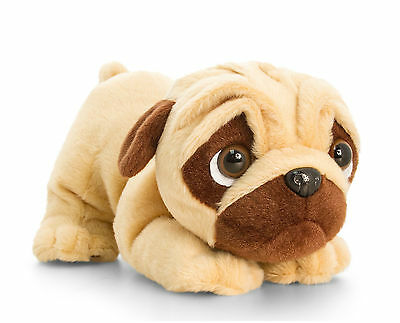 Keel Toys Pugsley 18cm Pouncing Pug Dog Cuddly Soft Toy Teddy Plush SD0792