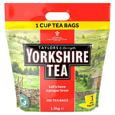 Yorkshire Tea Taylors of Harrogate 600 One Cup Tea Bags 1.5kg Catering Teabags