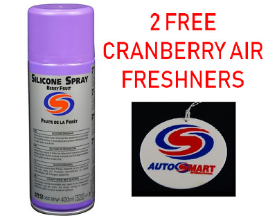 12 x 400ml AUTOSMART PROFESSIONAL SILICONE SPRAY DRESSING, BERRY FRUIT FRAGRANCE