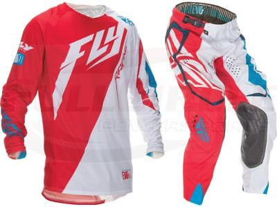 Fly Racing Evolution Switchback 2.0 Red Jersey & Pant Combo Set Riding Gear MX