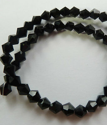 500pcs black glass crystal Bicone loose Spacer bead 6mm