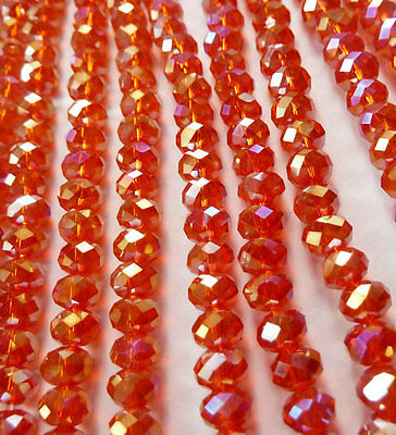 Wholesale 1000pcs AB red Abacus Faceted glass crystal loose spacers bead 6mm