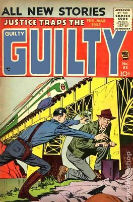 Justice Traps the Guilty #85 1956 GD/VG 3.0 Stock Image Low Grade