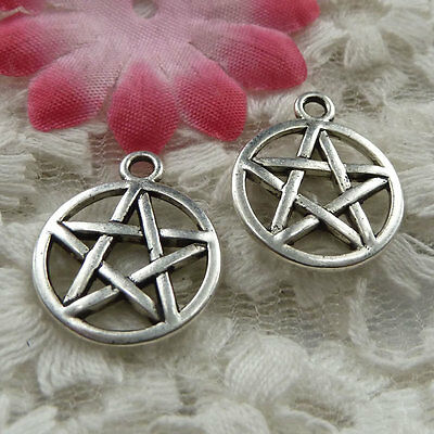 free ship 210 pieces Antique silver star charms 20x17mm #4149