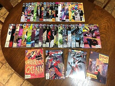 Dc Harley Quinn Complete Run Lot 1 - 38 Vf+ Nm Beautiful Copies Never Read