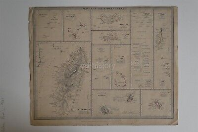 Map Indian Ocean Islands - Society For Diffusion Useful Knowledge c1840