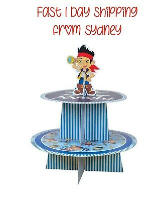 Jake and the neverland pirates Cupcake Stand Display Kids Party Birthday Favours