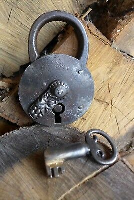 Antique Padlock with one key working order Made in Germany collector