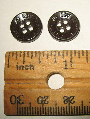 Lot of 2 Small Vintage Plastic Boy Scouts of America BSA Uniform Buttons