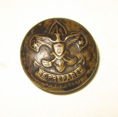 Antique Vintage Metal Boy Scouts of America BSA Uniform Button Be Prepared Motto